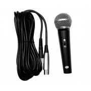 Microfone Dinâmico Profissional M-58 Cabo 3 Metros Palestras