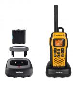 Par Rádios Comunicadores, Baterias E Carregador Bivolt 20km