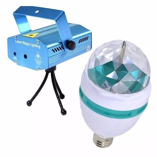 Projetor Lâmpada Laser Dj Efeitos 3d Colorido Festas Buffets