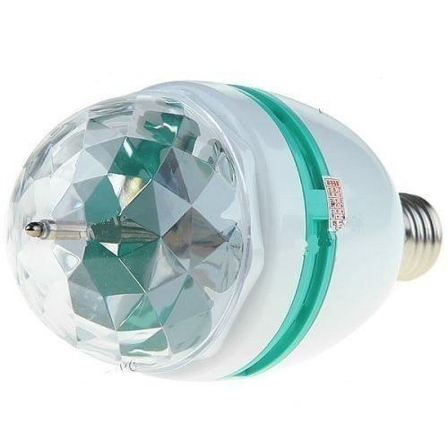8 Lâmpada Led Colorida Giratoria Enfeita Comércio Lojas Sala