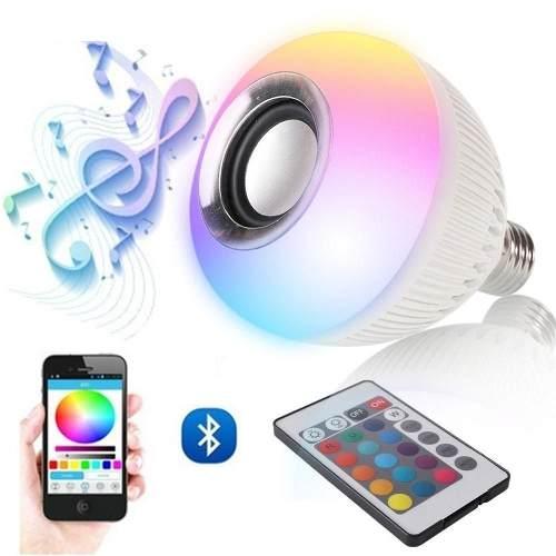 Kit 6 Lâmpada Elegra Festas Bluetooth Luzez Multicolorida