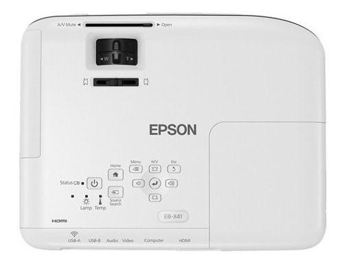Projetor Epson Powerlite X41+ 3600 Lumens Full Hdmi Usb 3lcd