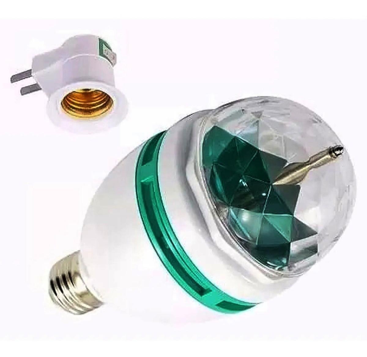 2 Lampada Dj Led Rgb Giratória Colorida 2 Mini laser Festas