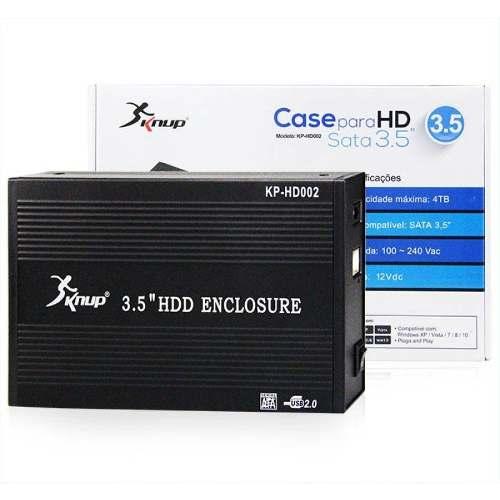 Case Para Hd 3.5 Externo Pc Computador Seagate Sata Usb 2.0