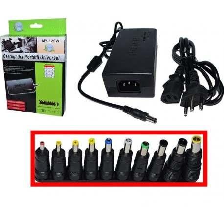 Carregador Universal Para Notebook Voltagem 110V/220V Automática Bivolt