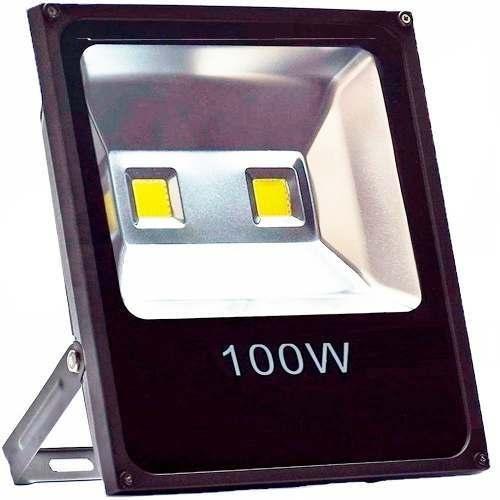 Refletor 100w Luminária Jardim Spot Luz Cor Branco Frio Led Bivolt