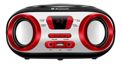 Rádio Fm Boombox Bx-20 Estéreo Bluetooth Usb Fone Ouvido Mp3