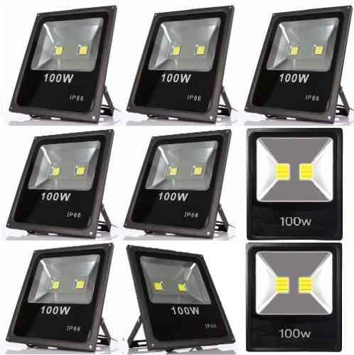 Kit 12 Refletor 100w Wats Iluminação Fachada Piscina Jardins