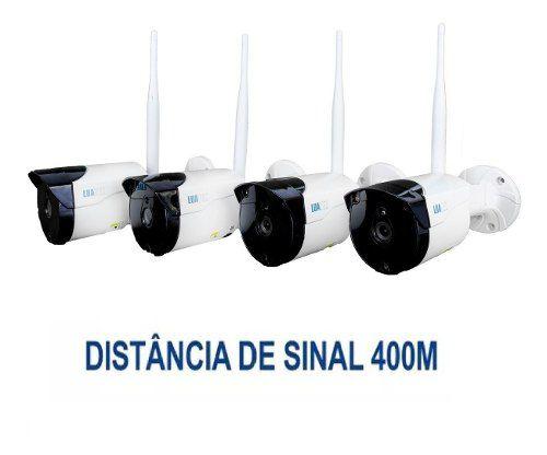 Nvr 4 Câmeras Wifi Sem Fio com infravermelho Luatek LKK-1204