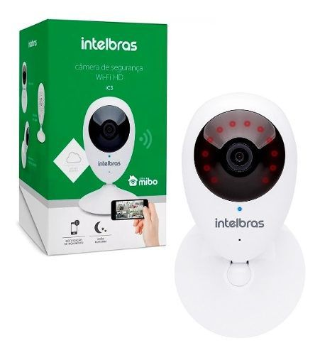 Câmera Segurança Wifi HD iC3 Intelbras Detecção De Movimento