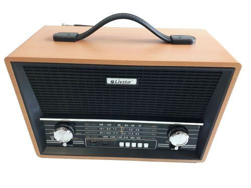 Caixa Bluetooth Radio Retro Vintage Pendrive Usb Fm Musica Bivolt