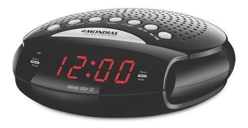 Radio Relógio com Alarme, desperta Mondial Digital Am/Fm