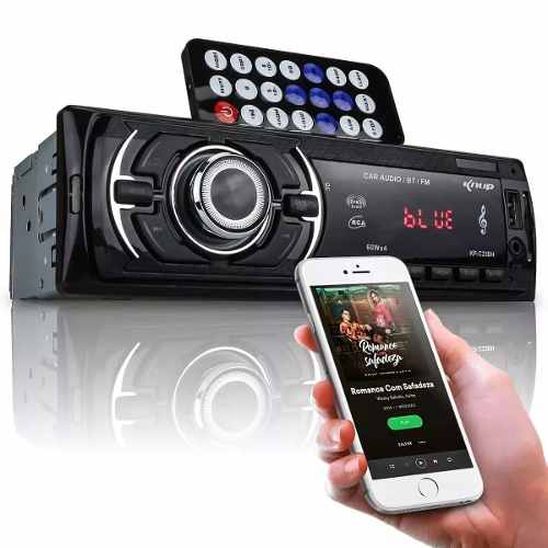 Radio Automotivo Veicular Bluetooth Usb Cartão De Memoria Sd