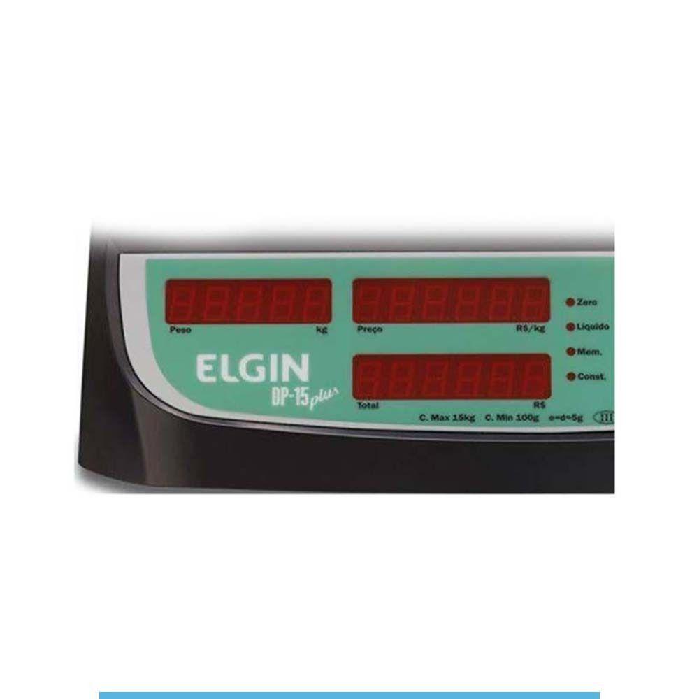 Balança Computadora Elgin Dp15 Plus 15kg 5g Bivolt 110/220V
