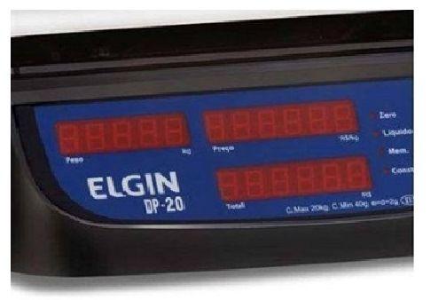Balança Computadora Elgin Dp20 Plus 20kg C/ Bateria Inmetro