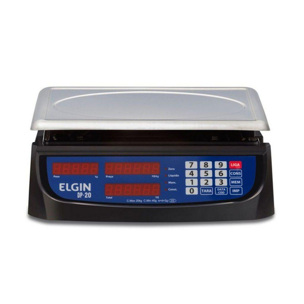 Balança Elgin Dp20 20Kg/2G Tara Uso Comercial E Industrial
