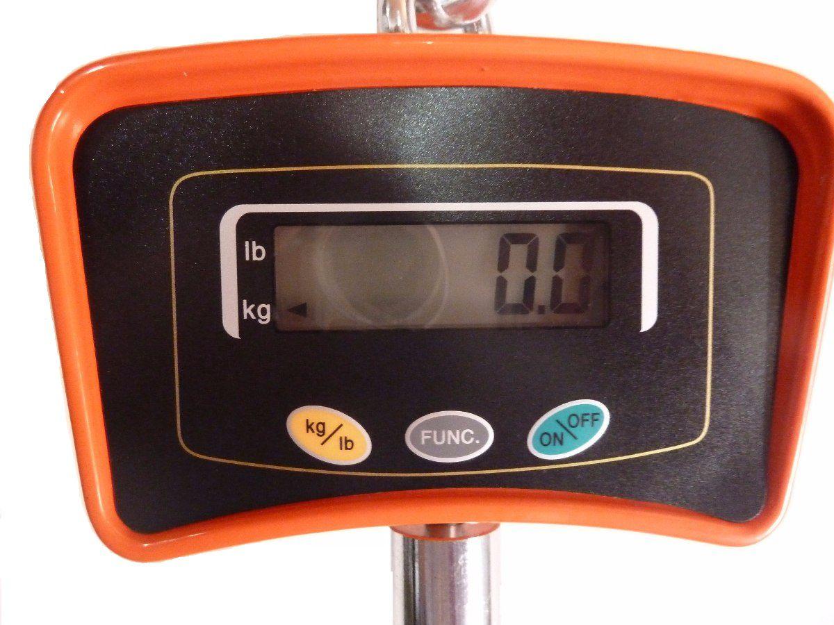 Balança Suspensa De Gancho 500Kg Bivolt E Bateria interna