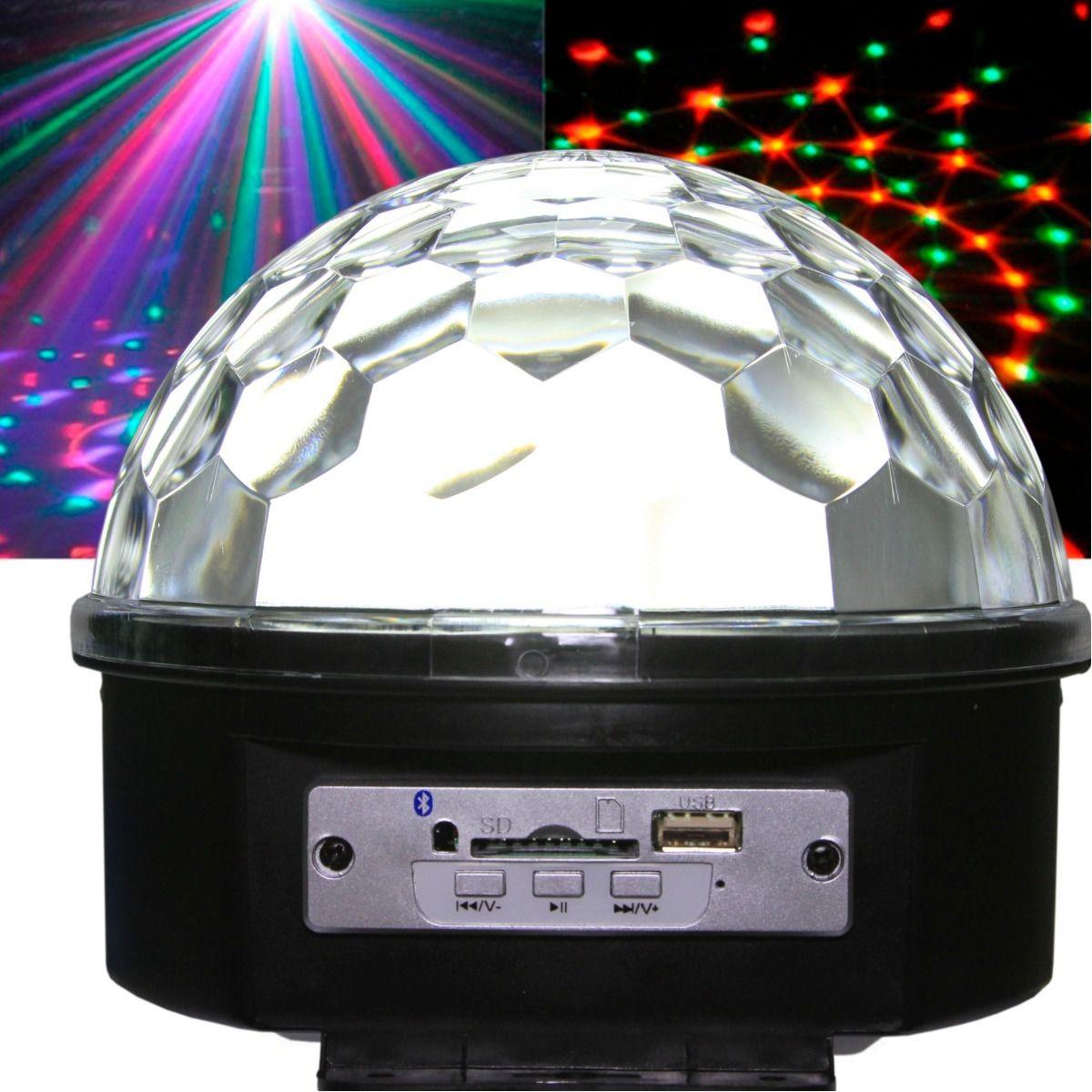Bola Maluca Bluetooth Holográfico Laser Globo Led Celular