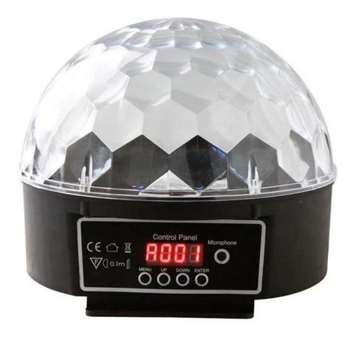Bola Maluca Dj Jogo De Luz Rgb Dmx 6 Canais Sensor De Som