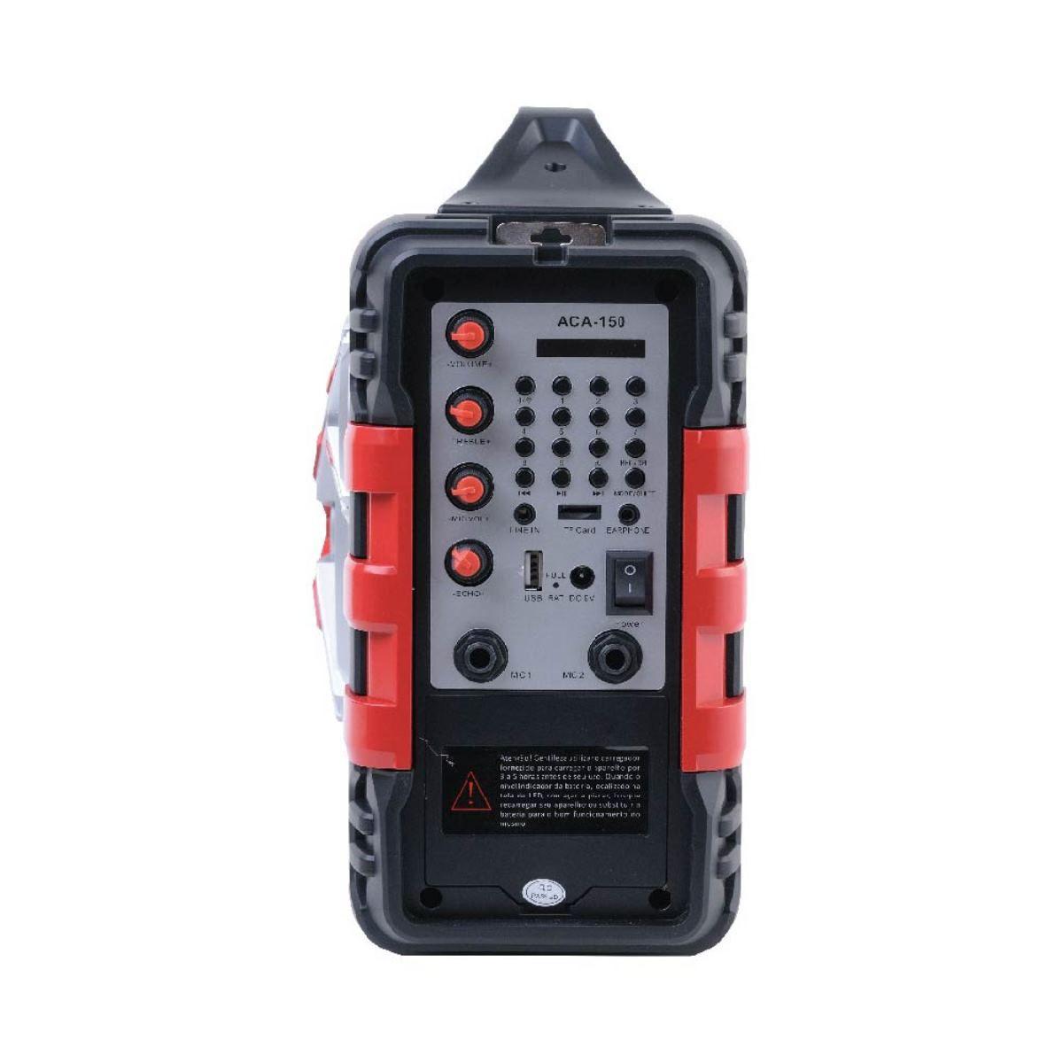 Caixa Amplificada 100w P10 Microfone Usb Com Alça Transporte