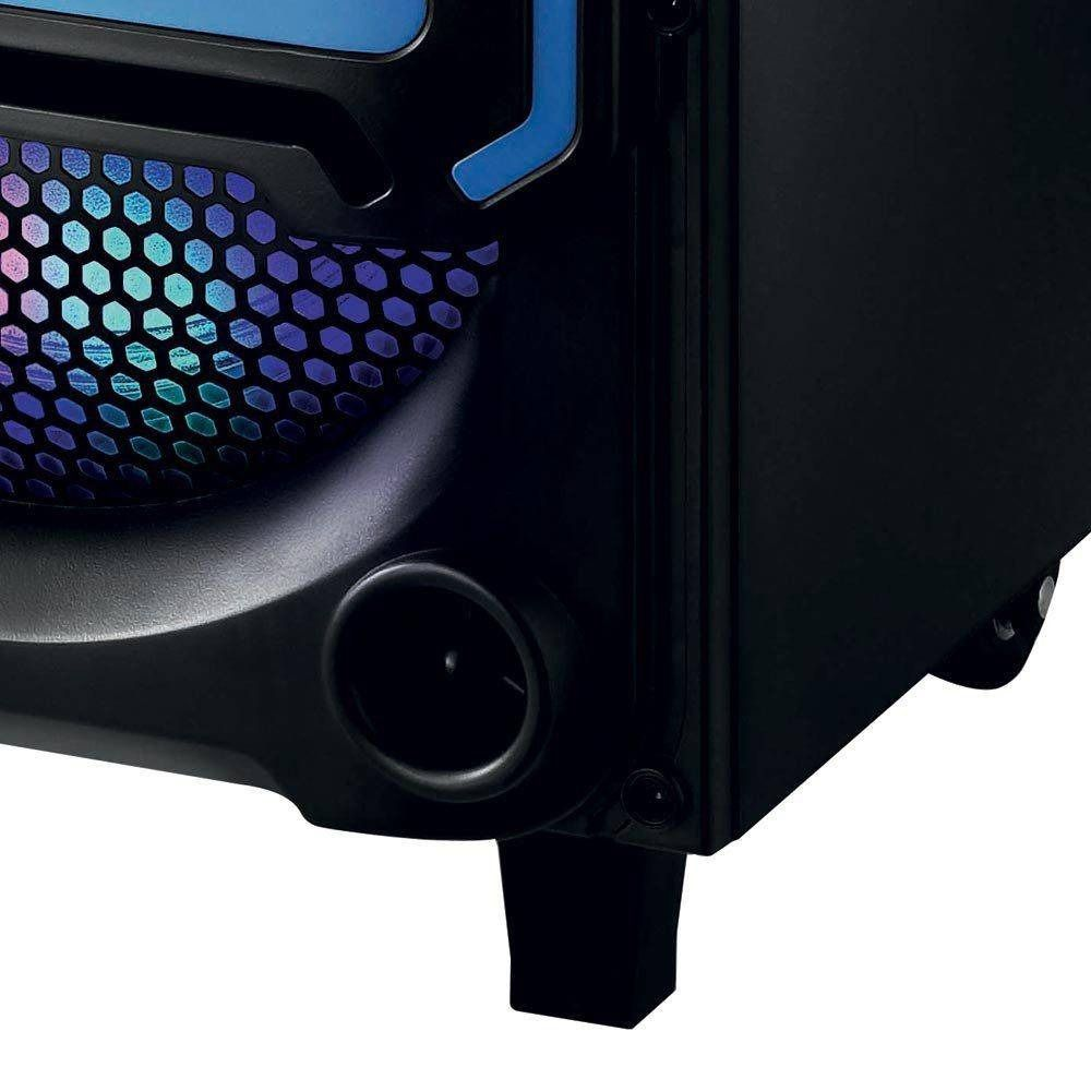 Caixa De Som Bluetooth Mp3 Usb Amplificada Subwoofer Festas