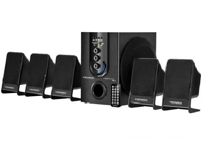 Caixa Multi Home Theater Som 75W Fm Mp3 Notebook Computador