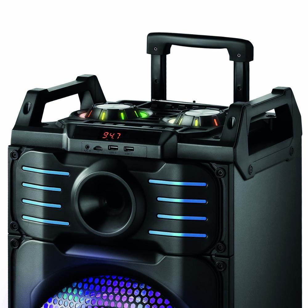 Caixa Som Portátil C/ Rádio Fm Usb Mp3 Bluetooth Amplificada