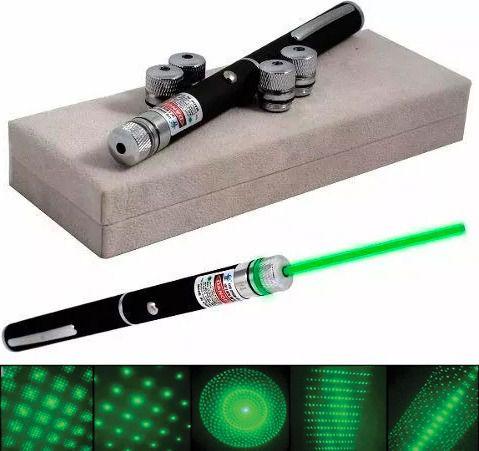 Caneta Laser Pointer Lanterna Verde Potente Até 7km 5000mw