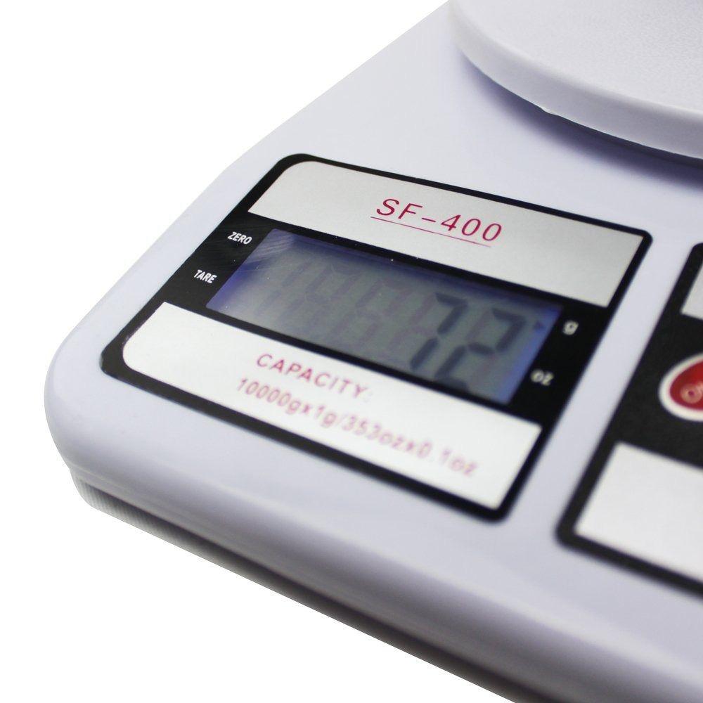 Balança Digital Até 10Kg Padaria Pesar Fermento Massa Bolo
