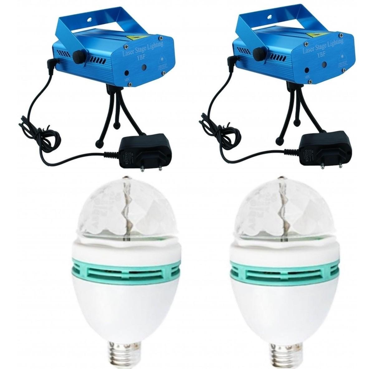 Kit 2 Projetor Holográfico Laser Efeitos Especiais 2 Lampada