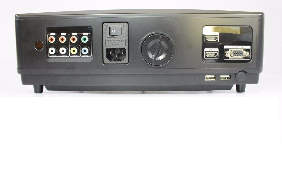 Projetor Multimidia 3000 Lumens 120 Pol Hdmi Usb Vga Txt Mp4
