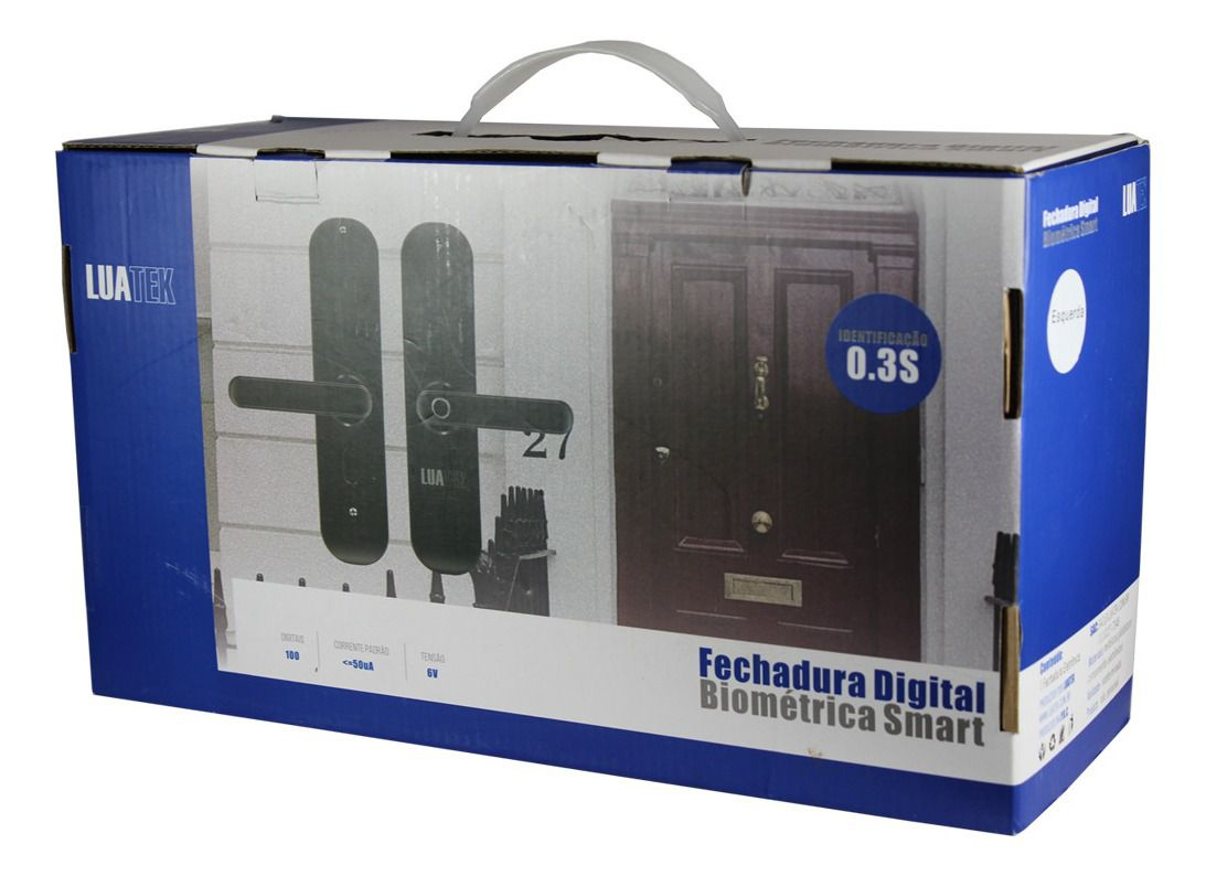 Fechadura Biométrica De Embuti Digital Teclado apartamentos