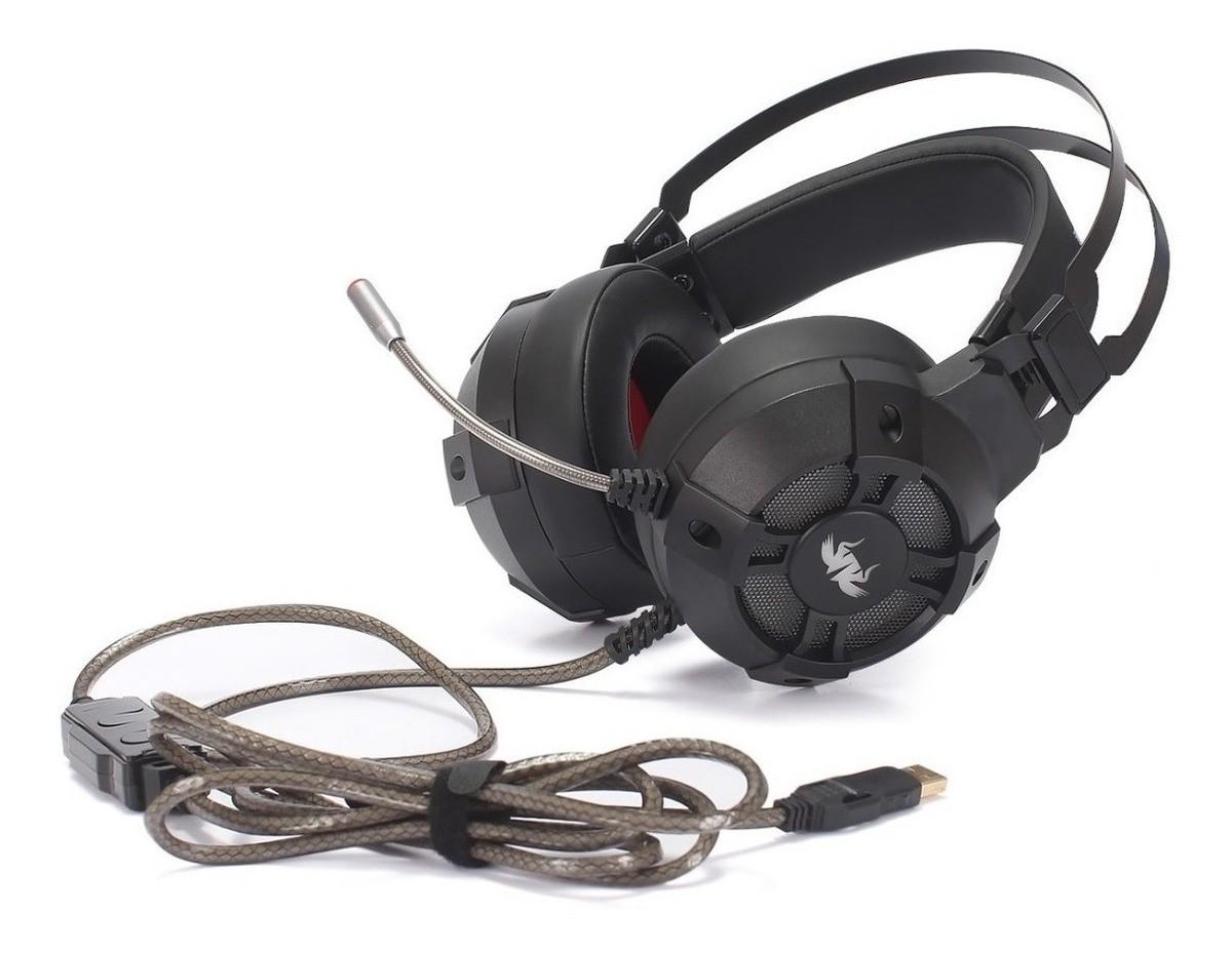 Fone De Ouvido Headset Gamer 7.1 Conexão Usb Computador