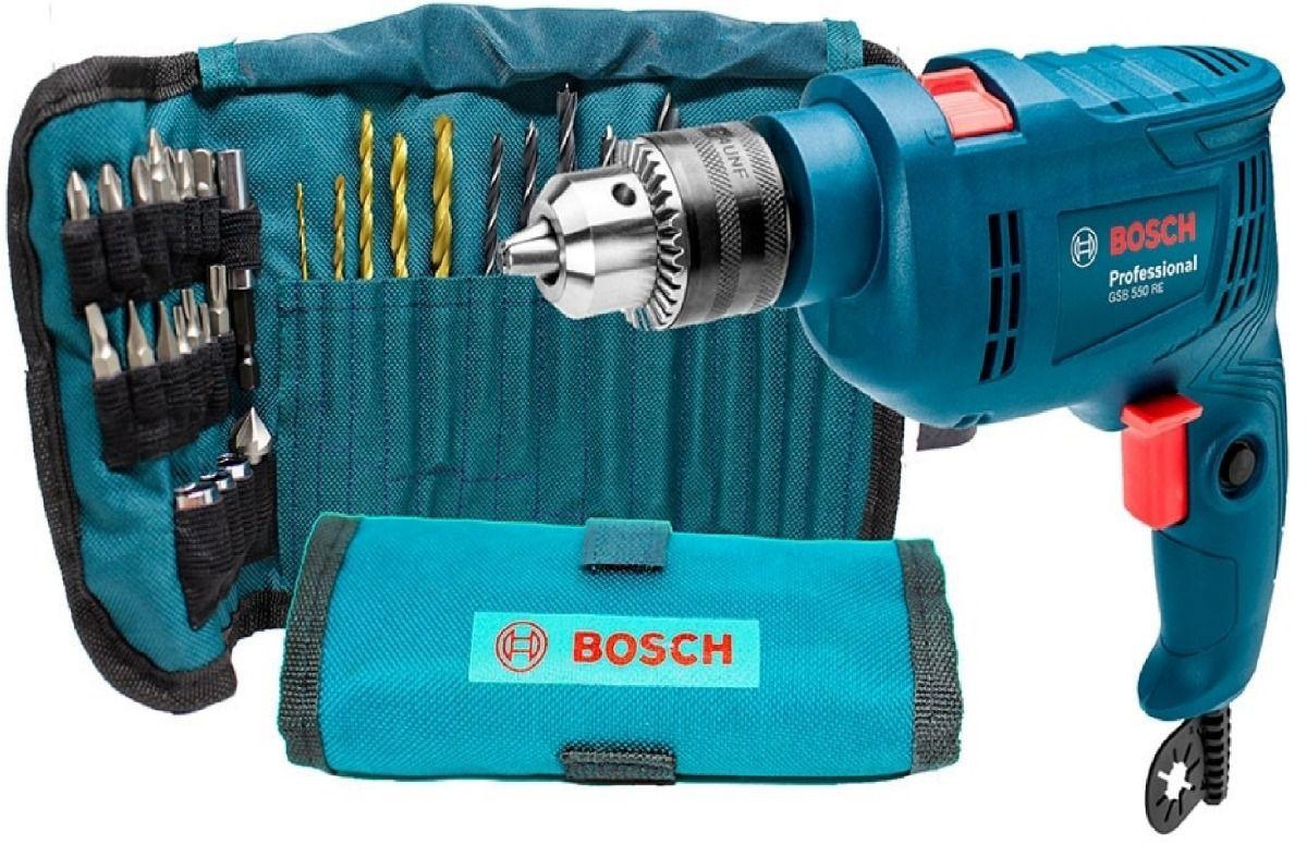 Furadeira De Impacto 1/2 Potencia 550w Bosch com 34 brocas