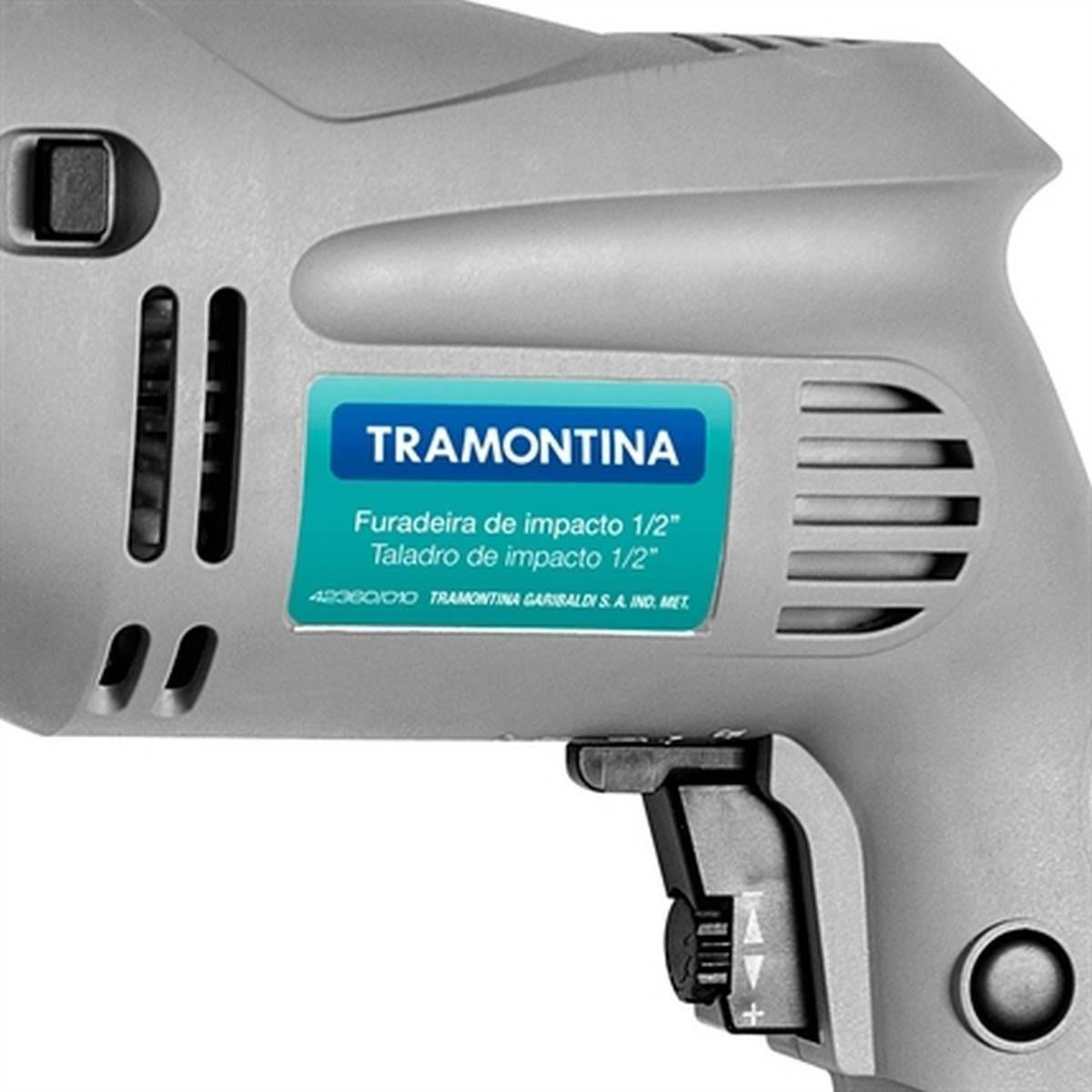 Furadeira Profissional Impacto 1/2 Polegadas 500w Tramontina