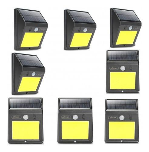 Kit 10 Luminária 12w Refletor Solar 60 Leds Sensor Presença