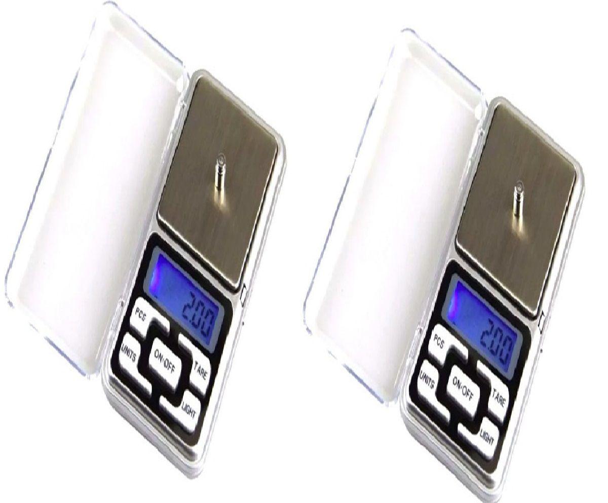 Kit 2 Balança 0,1g x 500g Precisão Joias Ouro Metal Diamante