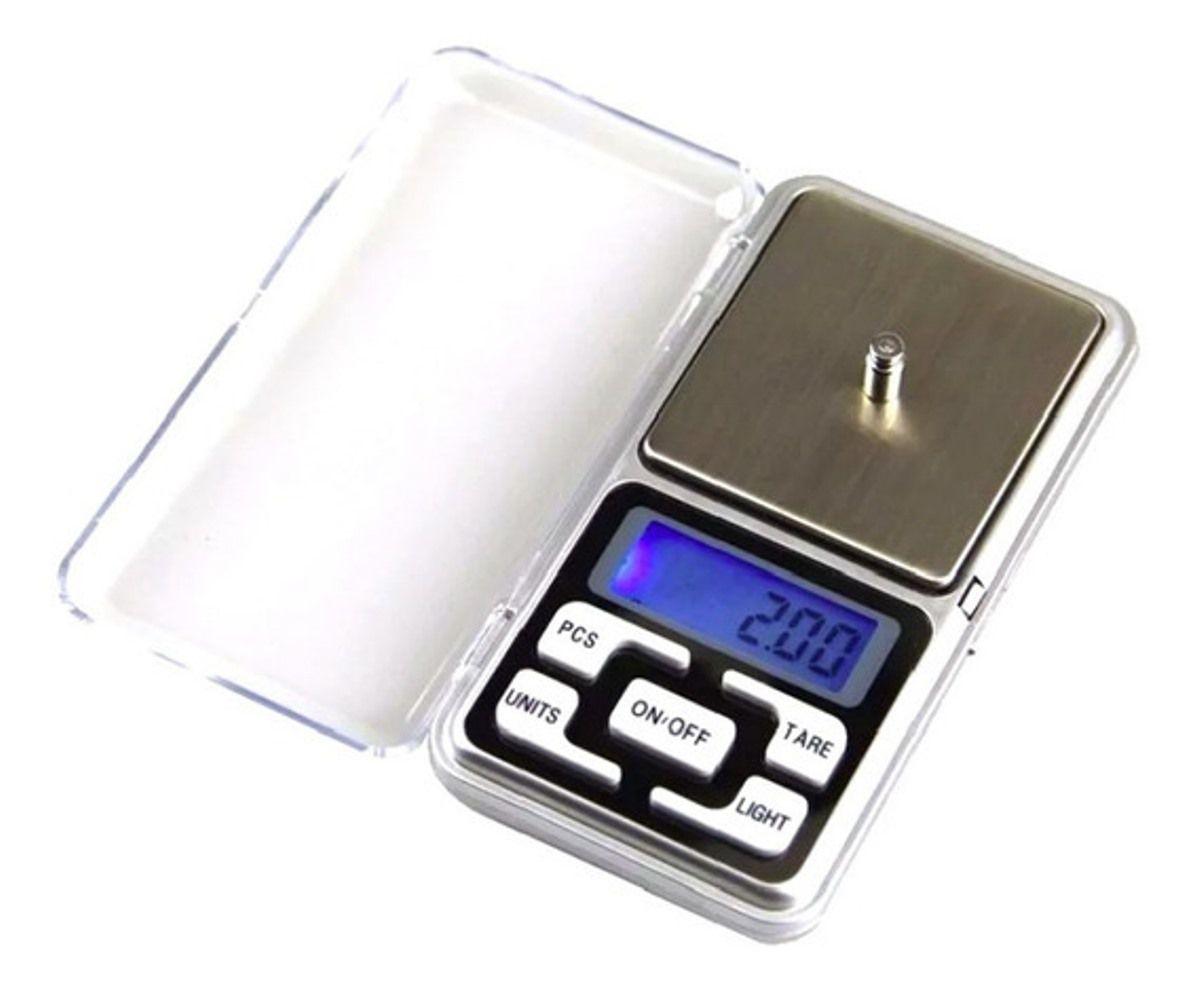 Kit 2 Balança Digital Pesar Prata Anel Ouro 1 Gr Ate 500 Gr