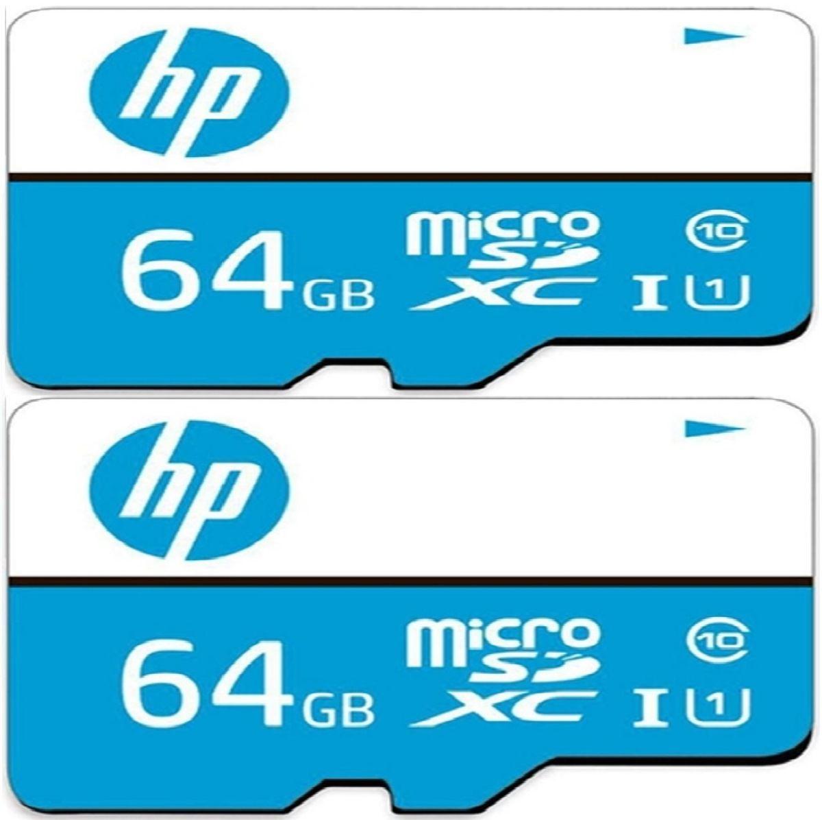 Kit 2 Cartão Memória Sd Hp U1 64gb Full Hd Rápido Classe 10