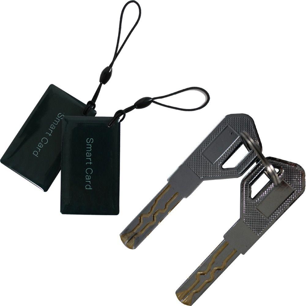 Kit 2 Fechadura Digital Com Teclado Touch Biometria E Senha