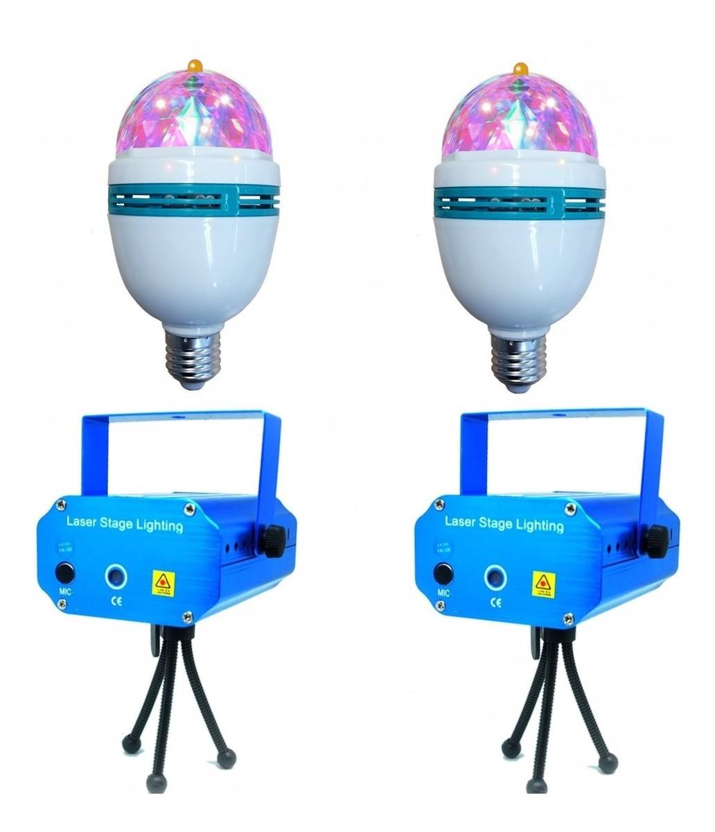 Kit 2 Mini Projetor Laser Holográfico 2 Bolinha Maluca Dj