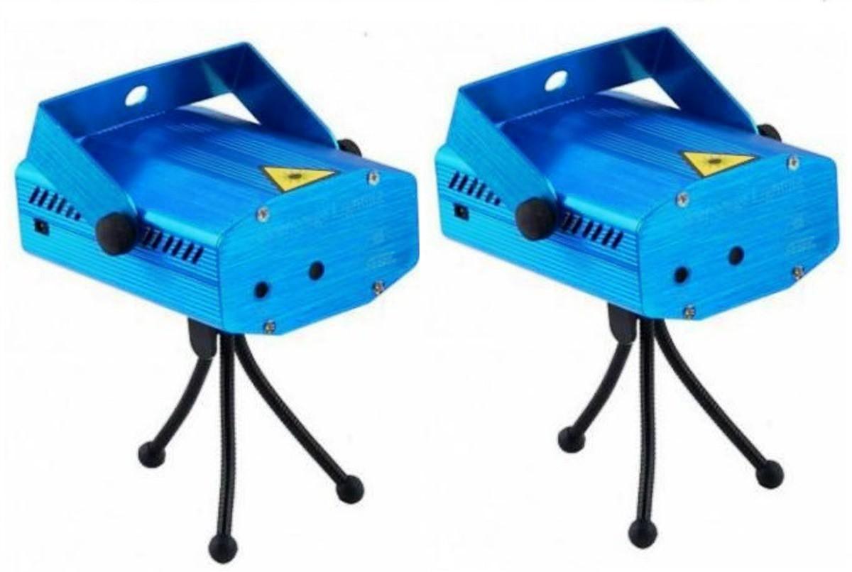 Kit 2 Projetor Iluminação Holográfico Strobo Laser Desenhos