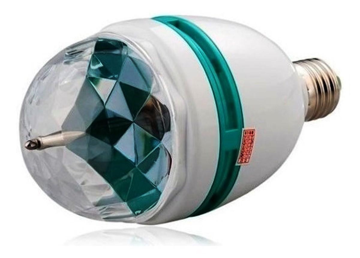 Kit 3 Lâmpada Giratória Bivolt Bola Maluca Com Adaptador E27