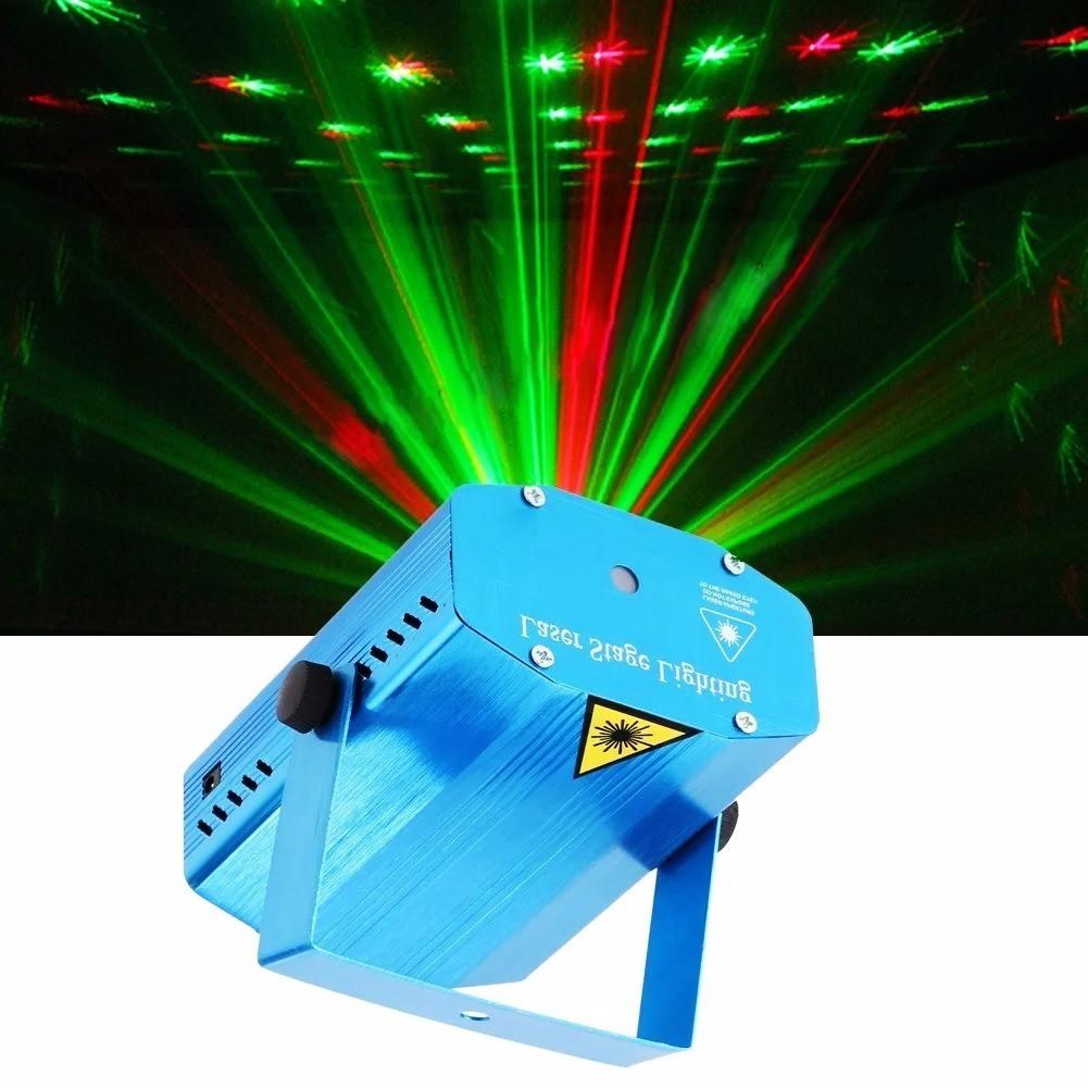 Kit 4 Canhão Mini Laser Dj Projetor Efeitos Coloridos Strobo
