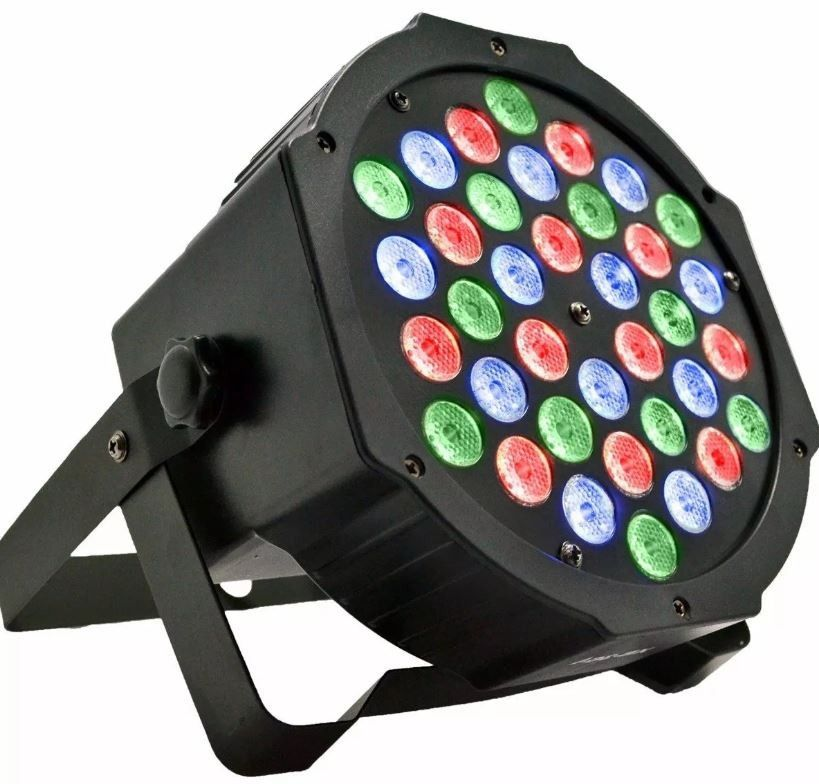 Kit 4 Canhão Refletor 36 Led Rgb Dmx Jogo Luz Iluminação Dj