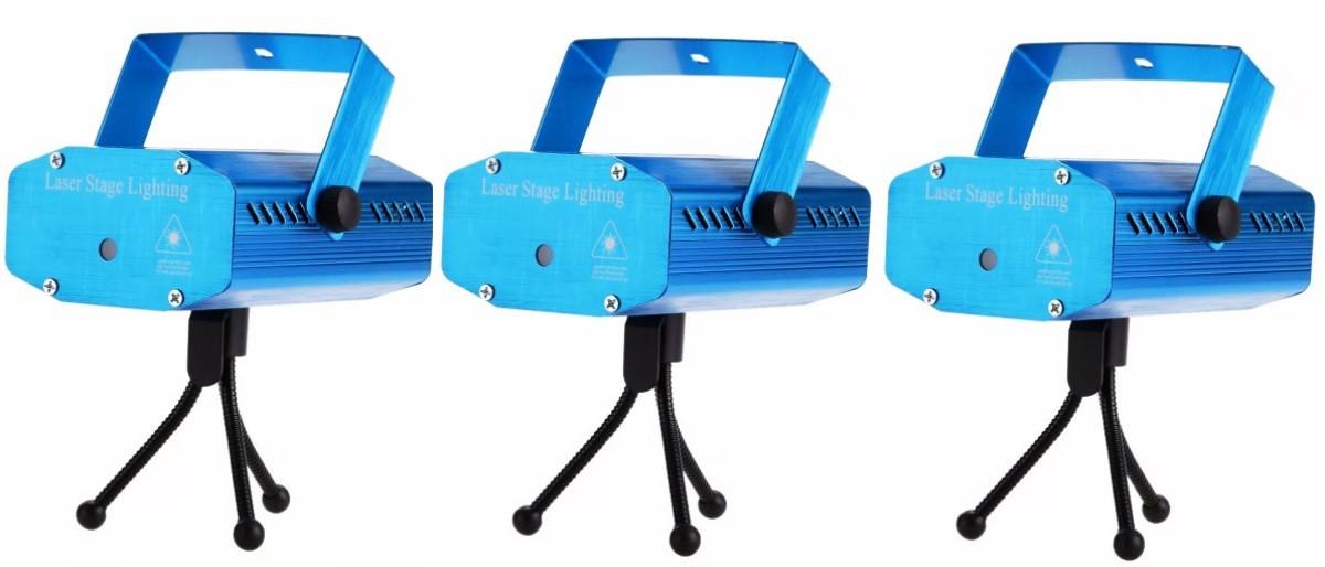 Kit 4 Mini Laser Efeitos Colorido Iluminação Luz Dj Festas