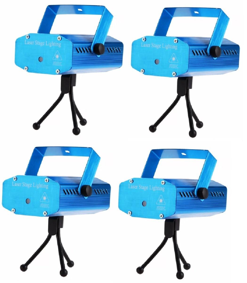 Kit 4 Projetor Holográfico Efeitos Para Buffets Aniversários