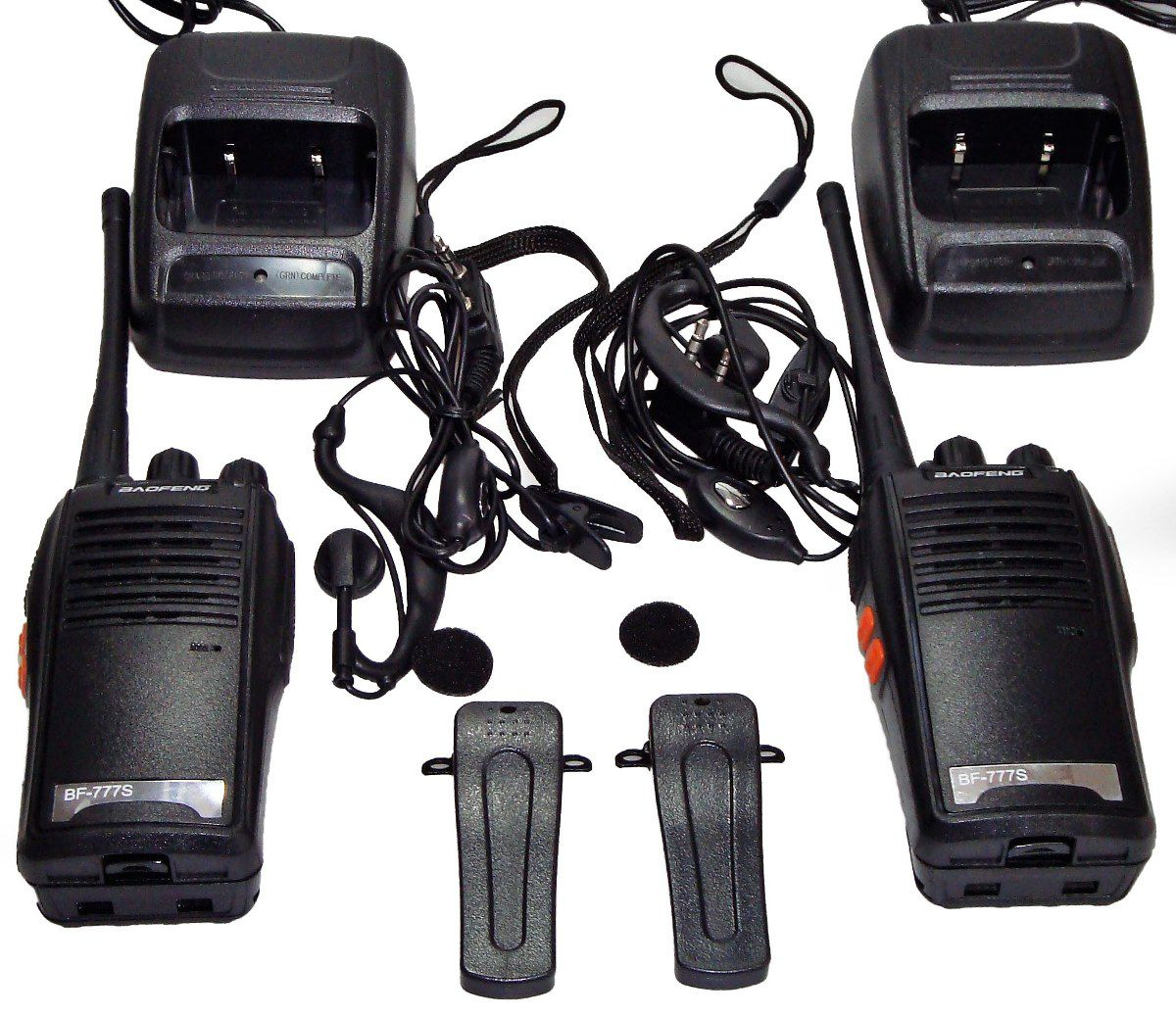Kit 4 Radio Comunicador Profissional 16 Canais + Fone Ouvido