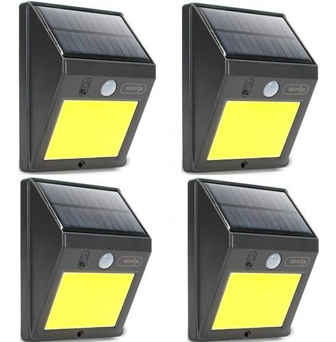 Kit 6 Luminária 12w Solar Ideal Sítios Quintais Chácaras Rua