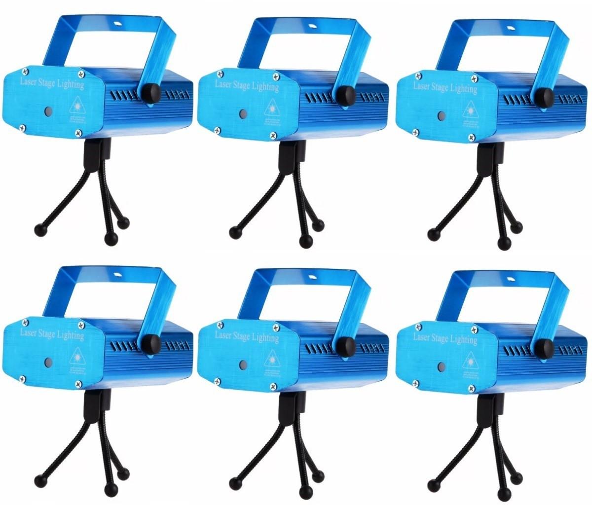 Kit 6 Projetor Holográfico Luz Efeitos Especiais laser 3d